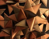 13 Medium Copper/Bronze Two Tone Shimmer German Paper Stars Quick Order Ready to Ship Moravian Stars Star Ornaments