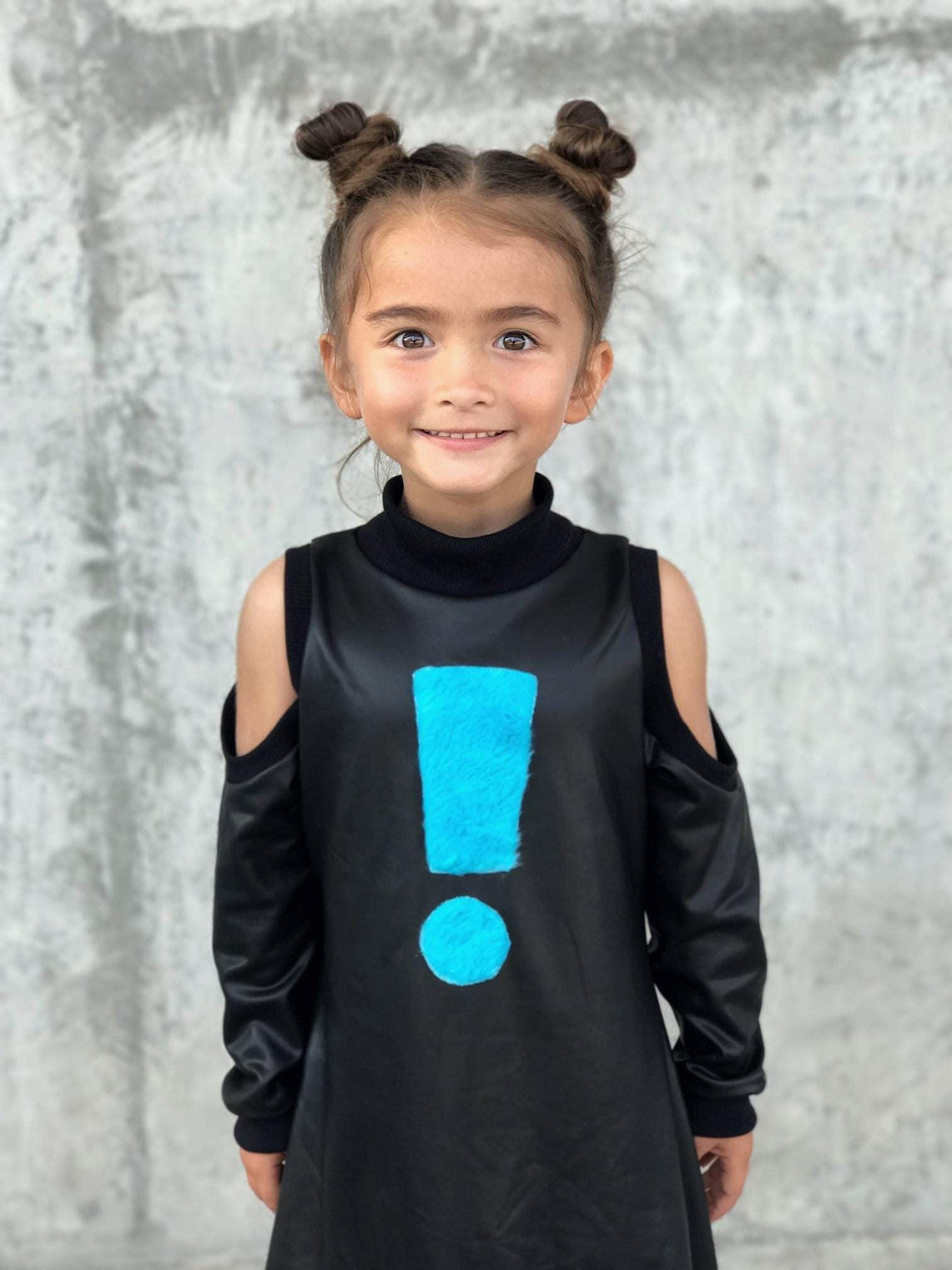 Girl Dress Toddler Dress Black Dress Monochrome Dress