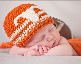 Texas Longhorns baby beanie. Longhorns hat. Newborn Longhorns gift.