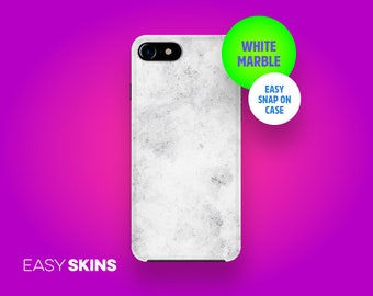 White Marble iPhone Case and Samsung Galaxy Case | Easy Skins | iPhone X Now Available