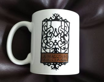 Hand painted mug inspired by Outlander