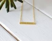 Custom Name Bar Necklaces