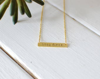 Custom Name Bar Necklaces