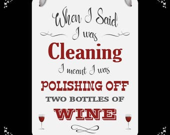 Funny Wine Wall Plaque - Sign FREE POSTAGE