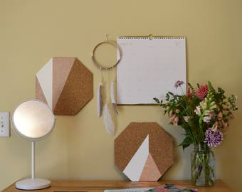 Rose Gold Corkboard Wall Tile: Sunburst