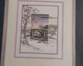 Needle Treasures -- Sunset-The Old Bridge - Counted Cross Stitch Kit #04677 by JCA