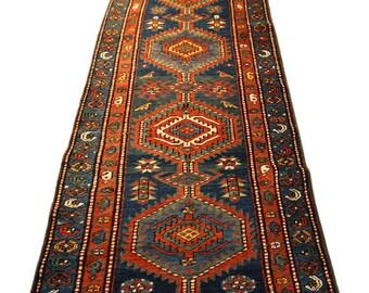 Antique Persian Rug - Karaja Rug - 2.7x16.4 - Hall Runner, Area Rug, Home Decor