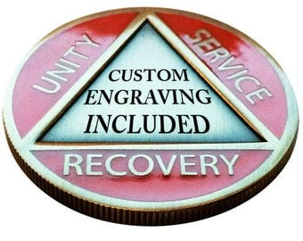"CUSTOM Engraved ""AA"" Recovery Coin"