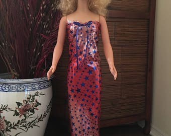 Starry Patriotic gown for my size Barbie