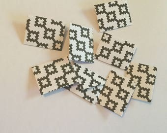 Mini envelopes and inserts, tiny envelopes, black and white tiny cards, tooth fairy letter, party favour, lunch box note, wedding favour