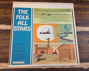 The Folk All Stars CSP 324 Vintage Vinyl Record LP