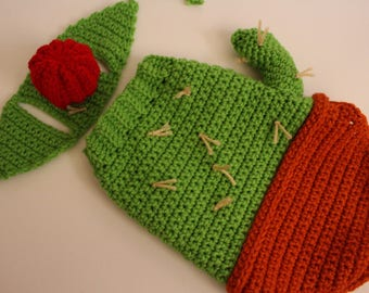 Cactus Dog Costume, Halloween Dog Costume, ready to ship, Cactus Sweater, Pet Costume, Cat Costume, Cactus Costume, Crochet Dog Clothing