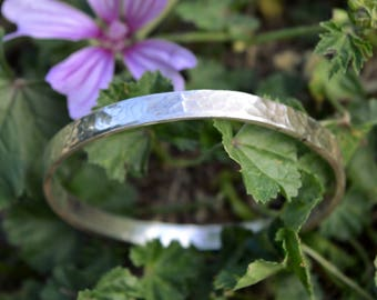 stacking bangle THICK,sterling silver bangle, modern, rustic bangle,handmade,silver stacking bangle,anniversary gift,unique,handcrafted,,925