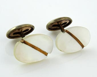 Antique Edwardian Cufflinks Mother-of-Pearl Small Men's or Women's