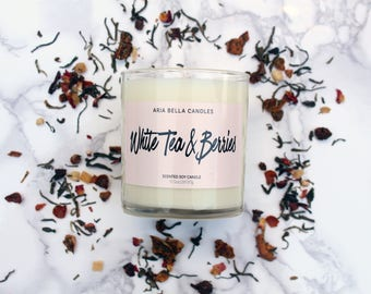 Berry Soy Candle - White - Soy Candle - Fruity