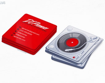 Premier DJ Business Cards - Mini Cards - Music/Record - Design and Printing - 250, 500, 1000, 2500 | FREE Shipping |