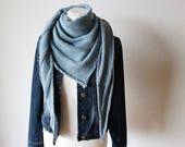 "Shawl Knitting PATTERN PDF, Knitted Shawl Pattern, Lace Shawl Wrap, asymetrical Shawl ""Easy"""