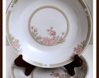 Coupe Bowls in Crown Ming Fine China by Jian Shiang Christina Pattern Set of 2
