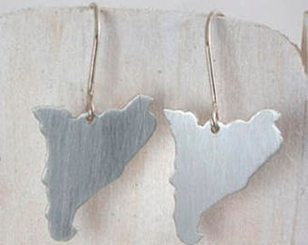 Catalonia Sterling Silver earrings, Handmade