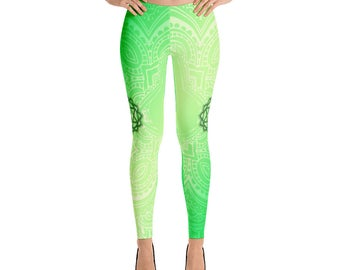 Green Heart Chakra Leggings