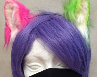 Mismatched Kitten Ears