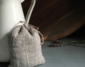 linen bag, filled with french lavender