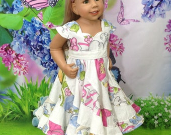 Spring flowers Boutique Pageant Twirl Dress...RTS sizes here!
