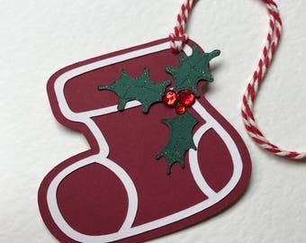 Handmade Christmas Stocking Gift Tags