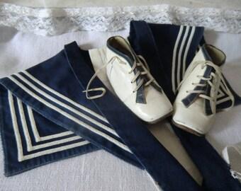 Vintage kids sailor collar with Lederschuhchen