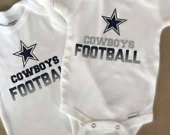 Dallas Cowboys Onesie, Cowboys Baby, Cowboys Football Onesie