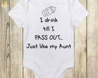 Funny Onesies®- Funny Baby Onesies - I Drink Till I Pass Out Onesie - Cute Baby Onesie - Baby Boy - Baby Girl -New Baby Gift-Funny Baby Gift