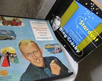 Vintage Record Vinyl Bing Crosby Sets Albums Songs I Love Treasury Stardust 1950s Croon