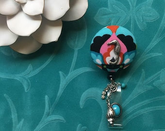 Seahorse by the Sea Shore-Nurse Retractable ID Badge Reel/ RN Badge Holder/Doctor Badge Reel/Nurse Badge Holder/Nursing Student Gift