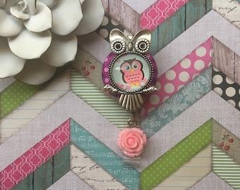 Pocket Full of Poseys Owl -Nurse Retractable ID Badge Reel/ RN Badge Holder/Doctor Badge Reel/Nurse Badge Holder/Nursing Student Gifts