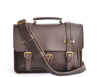 NEW Businessman Briefcase, Mens Briefcase, Womens Briefcase, Ladies Briefcase, Leather Briefcase, Handmade Leather Briefcase, Satchel
