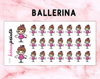 15% OFF A048 | Ballerina stickers, KEENACHI Repositionable stickers Perfect for Erin Condren Life Planner, Filofax, Plum Paper & other plann