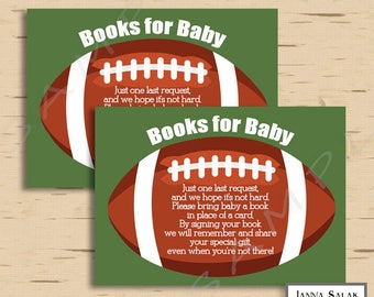 Football Baby Shower Books for Baby Insert Boy INSTANT DOWNLOAD Printable Diy PDF FB01