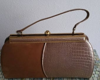 ON SALE Sydney California Two Tone Suede and Leather Handbag.