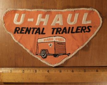 Vintage 60's U-Haul Trailer large patch