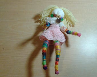Wish granted hand made doll, one of a kind doll, positive energy doll, decoration