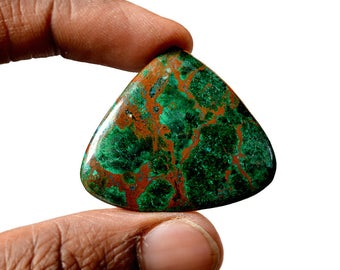 Chrysocolla 51 Cts AAA Quality Natural Gemstone Attractive Designer Triangle Shape Cabochon 37x32x4 MM R14099