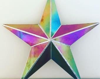 Geometric/ nautical iridescent star
