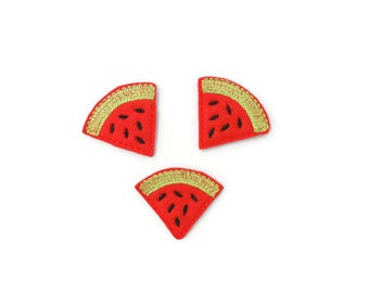 3 Watermelon felties embellishments party favors bows scrap booking hair bows