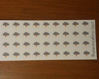 Thunderstorm stickers