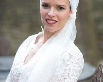 romantic Bohemian look Bridal Veil