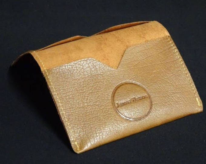 Bantam Wallet - Oak Texture - Kangaroo leather with RFID Credit Card Blocking - James Watson