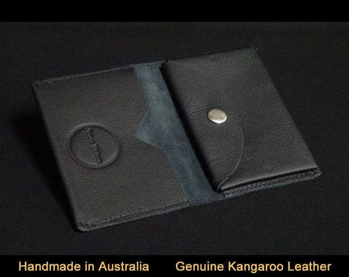 Bantam Wallet - Holds 12 cards and cash - Black - Mens Womens Custom Strong Slim Card Sleeve Wallet RFID Credit Card Chip Protection James