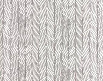 Catnip- Kitten Lines- White/Grey- Gingiber- Moda Fabrics