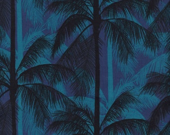 Cotton + Steel- Poolside- Palms- Blue- Melody Miller, Alexia Abegg