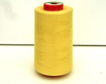 Cone thread yellow mustard in poly-cotton